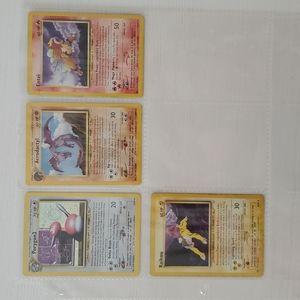 Lot of 4 Rare and Holo Vintage Pokémon Cards